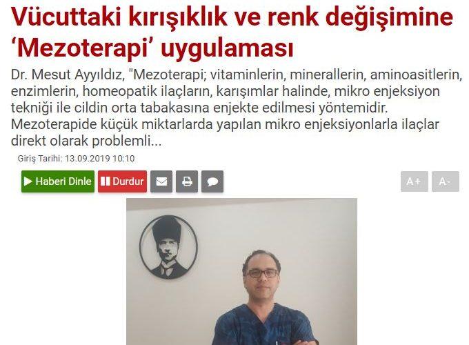 Dr. Mesut AYYILDIZ'ın bolgegundem.com 'daki açıklamaları